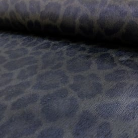 Rasch Leopard Print Pattern Faux Effect Fur Metallic Textured Wallpaper 473605