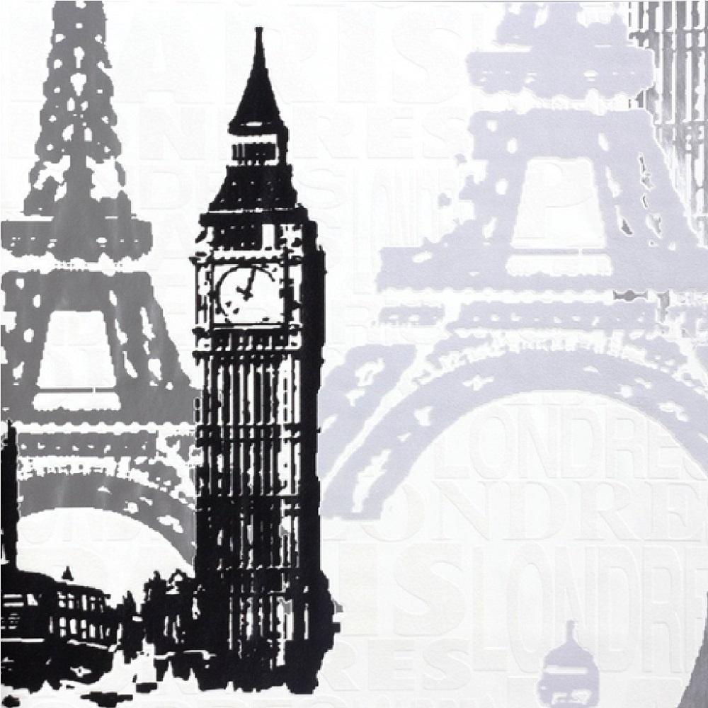 Rasch London Amp Paris Wallpaper 734805 Black White Grey