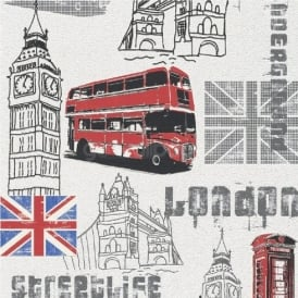 Rasch London Streetlife Wallpaper 781908
