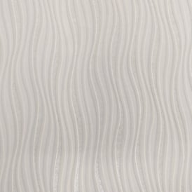 Rasch Luxe Wave Stripe Pattern Metallic Silver Glitter Embossed Wallpaper 317602