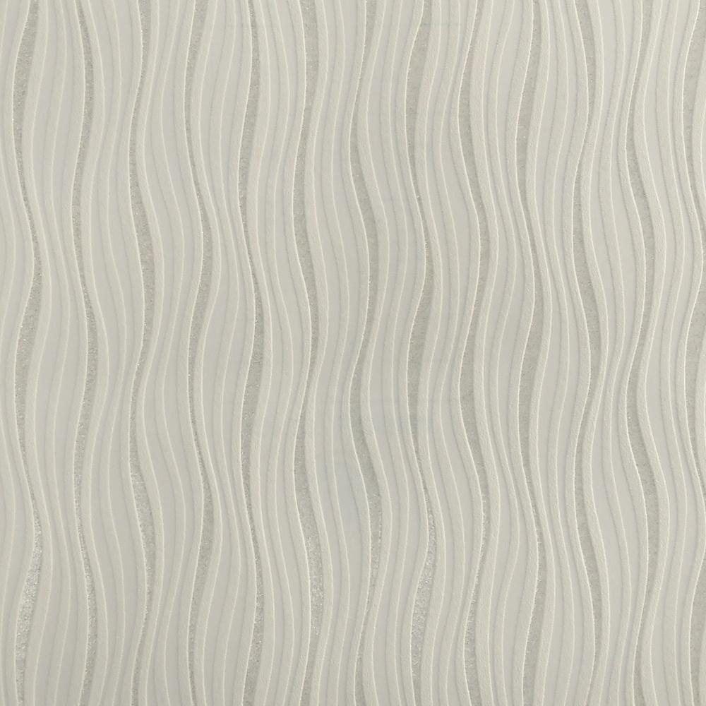 Rasch Luxe Wave Stripe Pattern Metallic Silver Glitter Embossed Wallpaper 317619