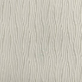 Rasch Luxe Wave Stripe Pattern Metallic Silver Glitter Embossed Wallpaper 317619