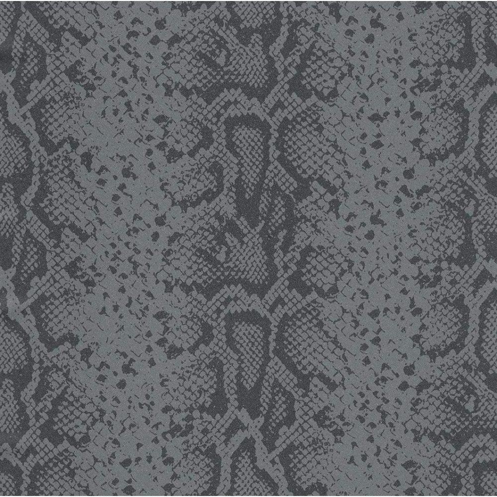 Rasch Rasch Mandalay Snake Skin Black Wallpaper 281033