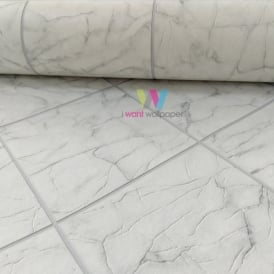 Rasch Marble Tile Pattern Wallpaper Realistic Kitchen Bathroom Embossed 899429