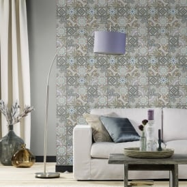 Rasch Moroccan Baroque Tile Pattern Wallpaper Realistic Faux Effect 526301