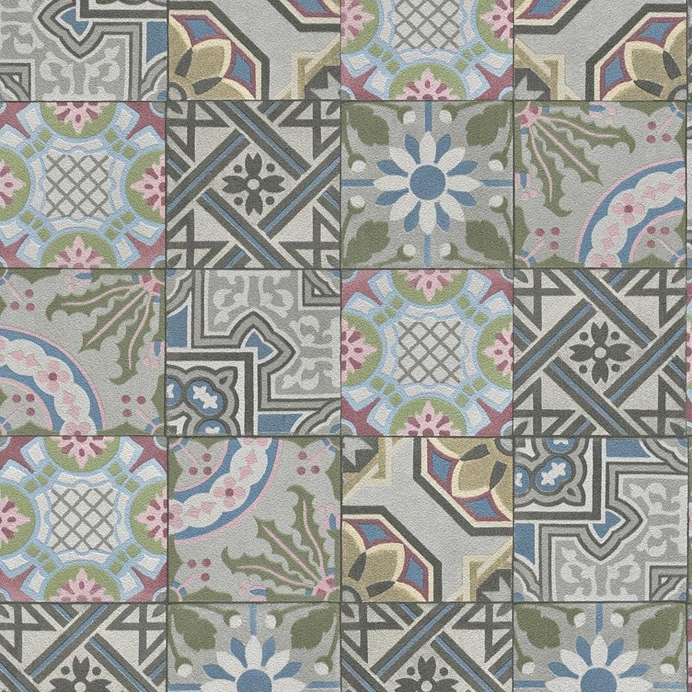 Rasch Moroccan Tile Pattern Wallpaper Realistic Faux Effect 526301