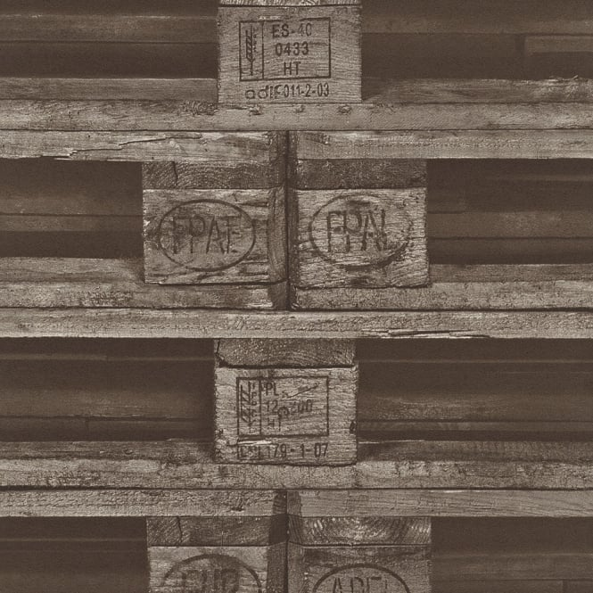 Rasch Pallet Crate Factory Wallpaper Faux Effect Mural Textured Realistic 524109