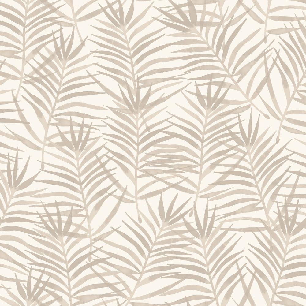 Rasch Paradise Palm Leaf Pattern Tropical Floral Motif Metallic Wallpaper 208917
