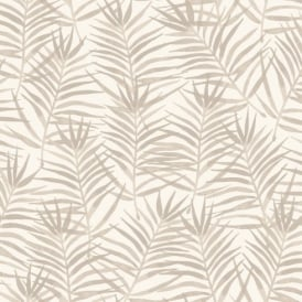 Rasch Paradise Palm Leaf Pattern Tropical Floral Motif Metallic Wallpaper 208917
