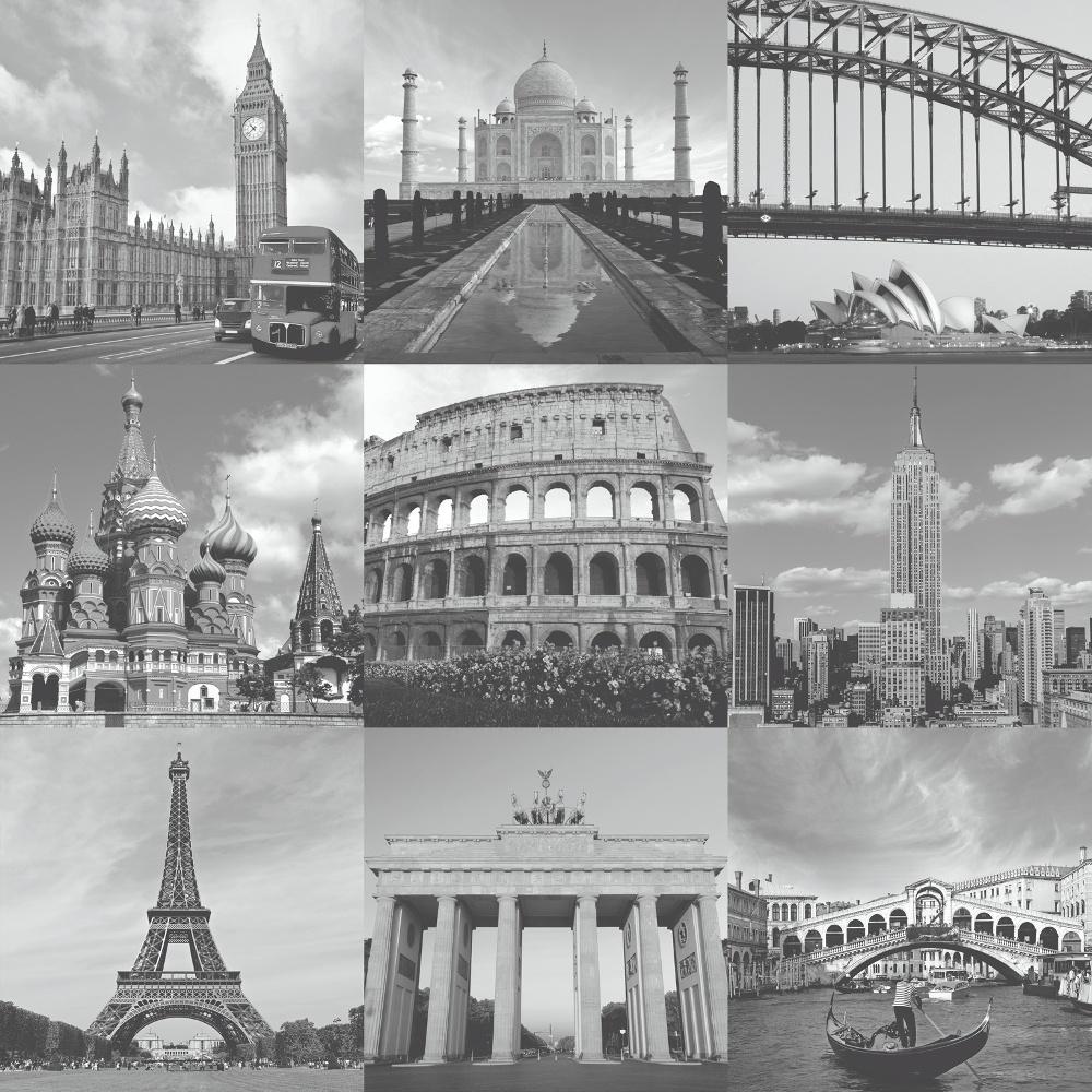 Rasch Portfolio London New York Paris Rome City Colour Photo Wallpaper 235715