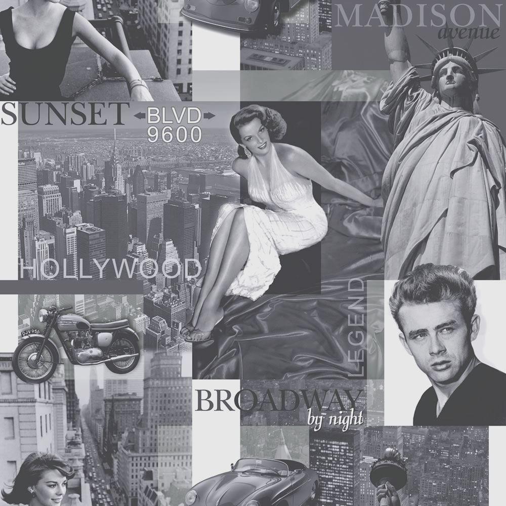 Rasch Portfolio Movie Star Black White Silver Hollywood New York