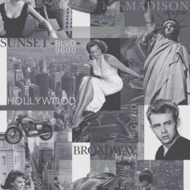 Rasch Portfolio Movie Star Black White Silver Hollywood New York Photograph Wallpaper 257601