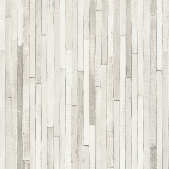 Rasch Portfolio Wooden Panel Striped Beach Cabin Wood Motif Beige Wallpaper 280401