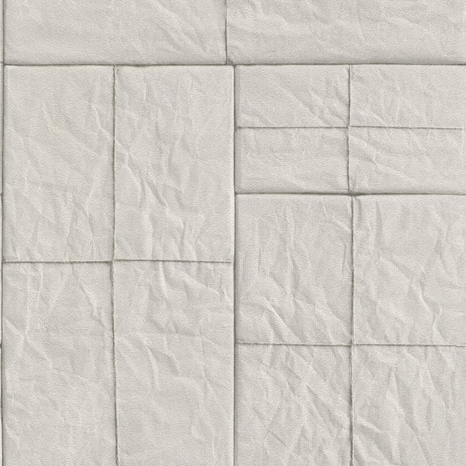 Rasch Post Packages Parcel Pattern Wallpaper Square String Textured Faux Effect 524307
