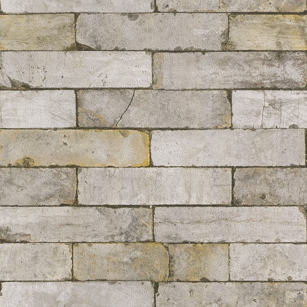 Rasch authentic stone wall realistic faux textured - Papel de ladrillo ...
