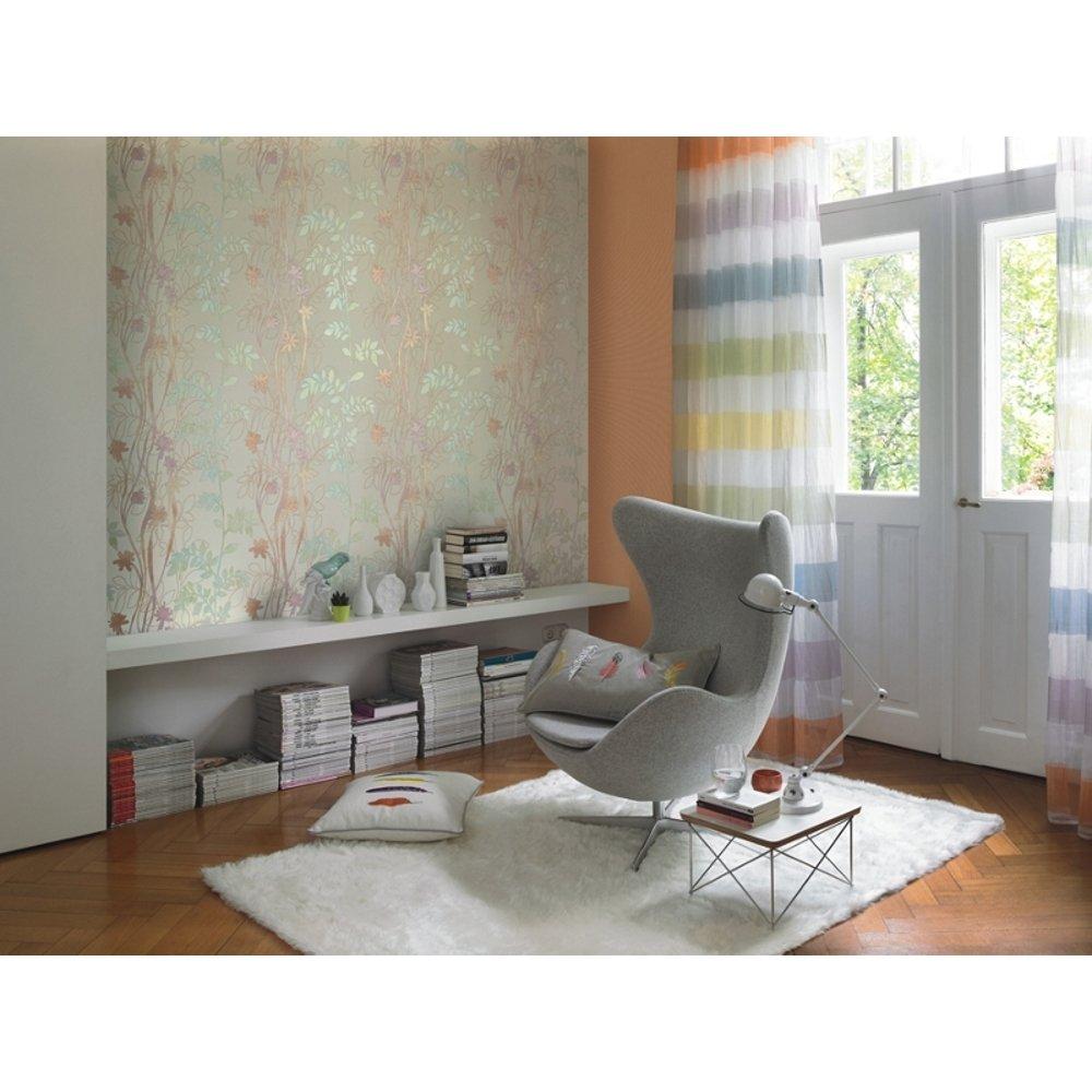 rasch barbara becker flower floral leaf stitch motif wallpaper 705188. Black Bedroom Furniture Sets. Home Design Ideas