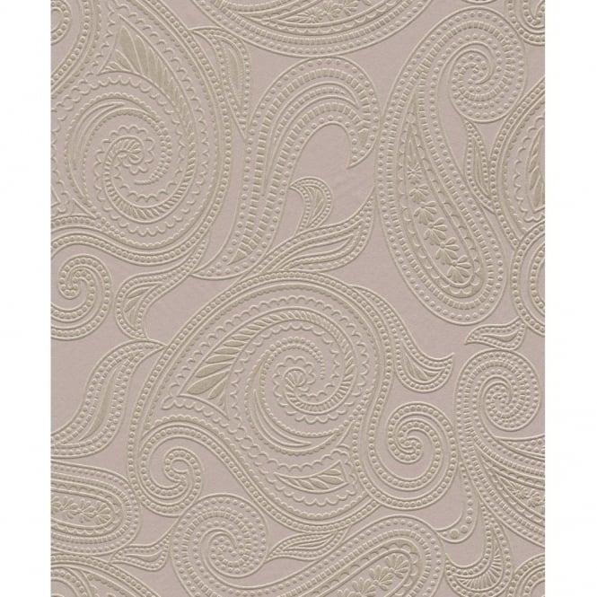Selbstklebende Tapete Obi : Silver Metallic Embossed Wallpaper