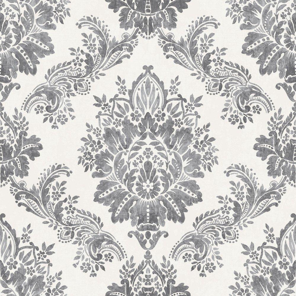 Rasch bloomsbury damask pattern floral motif metallic - Rasch ornament tapete ...