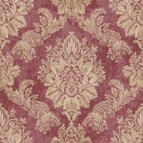 Rasch Bloomsbury Damask Pattern Floral Motif Traditional Metallic Wallpaper 204841