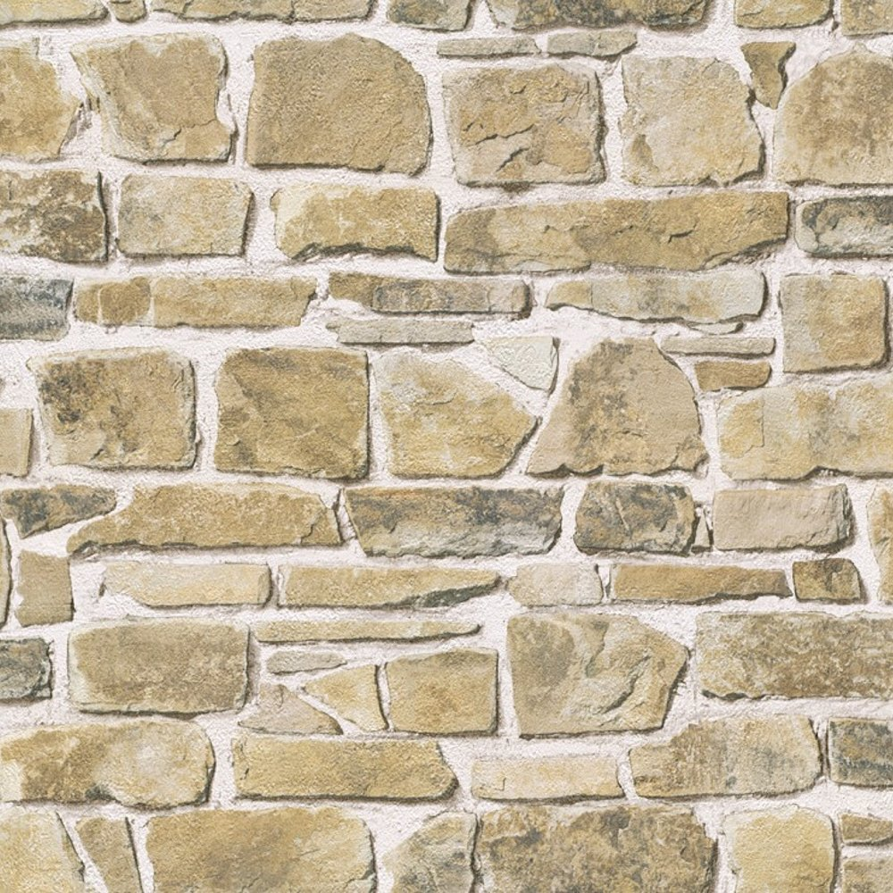 Rasch brick wall pattern faux effect textured vinyl 1 wall wallpaper