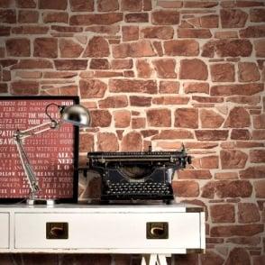Rasch Brick Wall Pattern Faux Effect Realistic Mural Textured Vinyl Wallpaper 265613