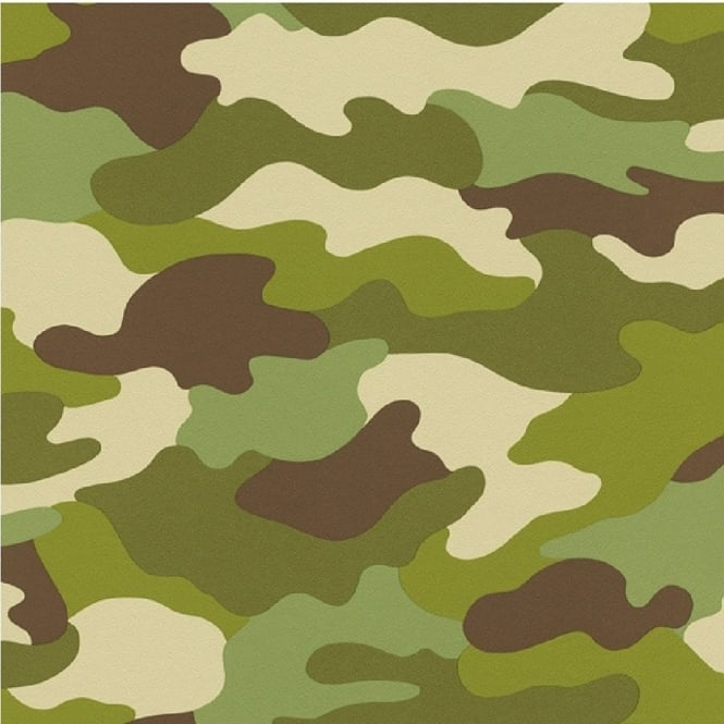 Rasch Camouflage Childrens Wallpaper 222821