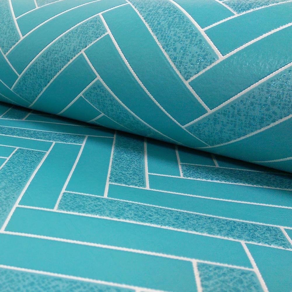 Rasch chevron stripe pattern kitchen bathroom vinyl for Vinyl wallpaper