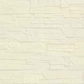 Rasch Factory Slate Brick Pattern Stone Faux Effect Textured Mural Wallpaper 475005