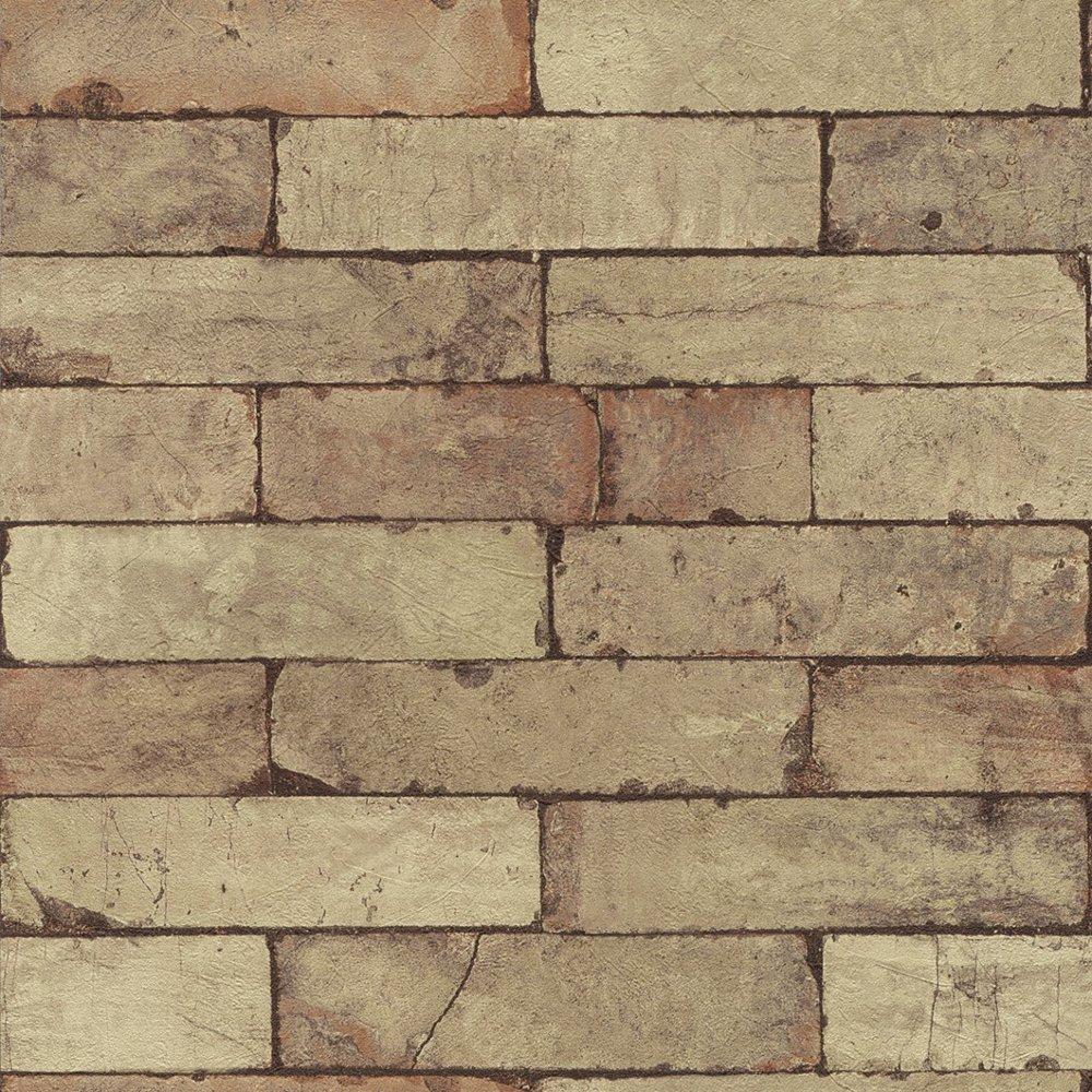 rasch factory stone pattern brick wall effect mural. Black Bedroom Furniture Sets. Home Design Ideas