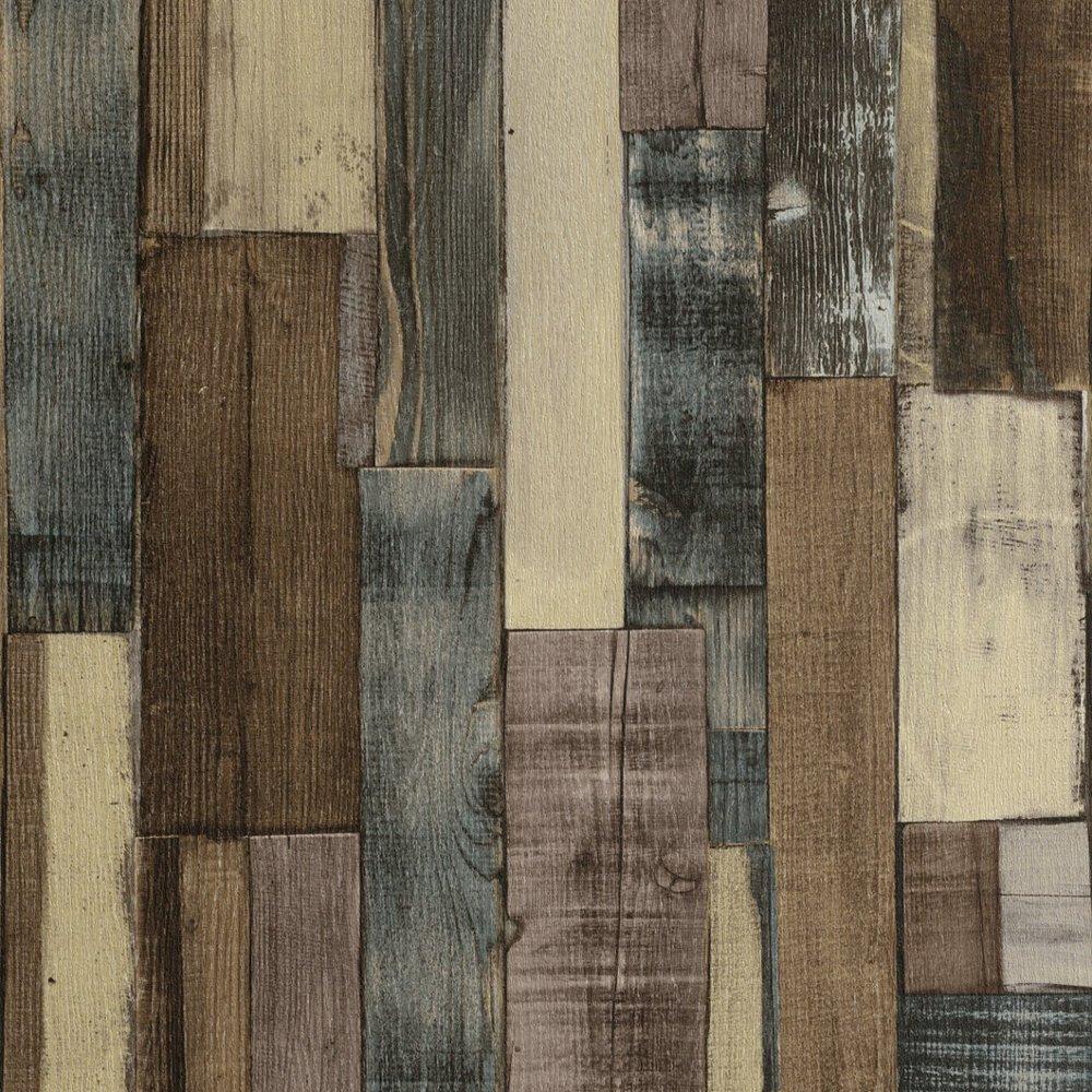 rasch factory wooden panel beam pattern faux effect