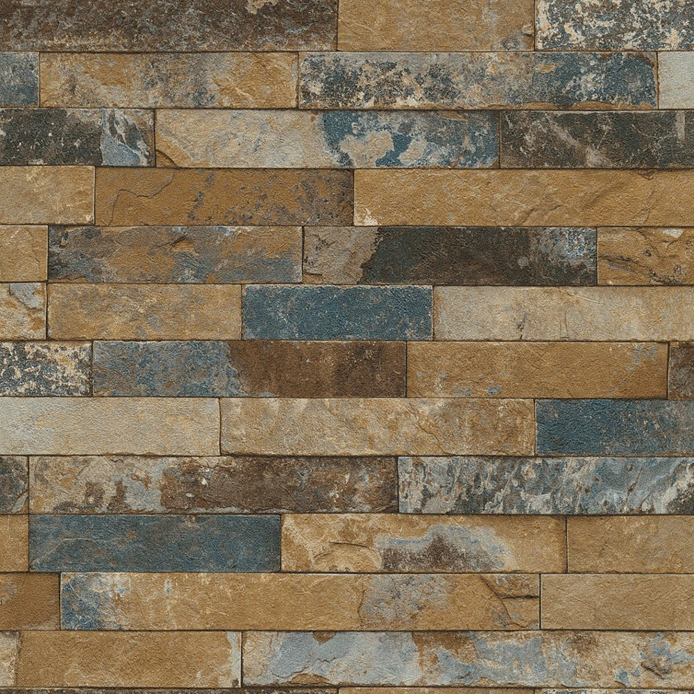 Rasch factory worn brick pattern stone effect texture - Papel de ladrillo ...