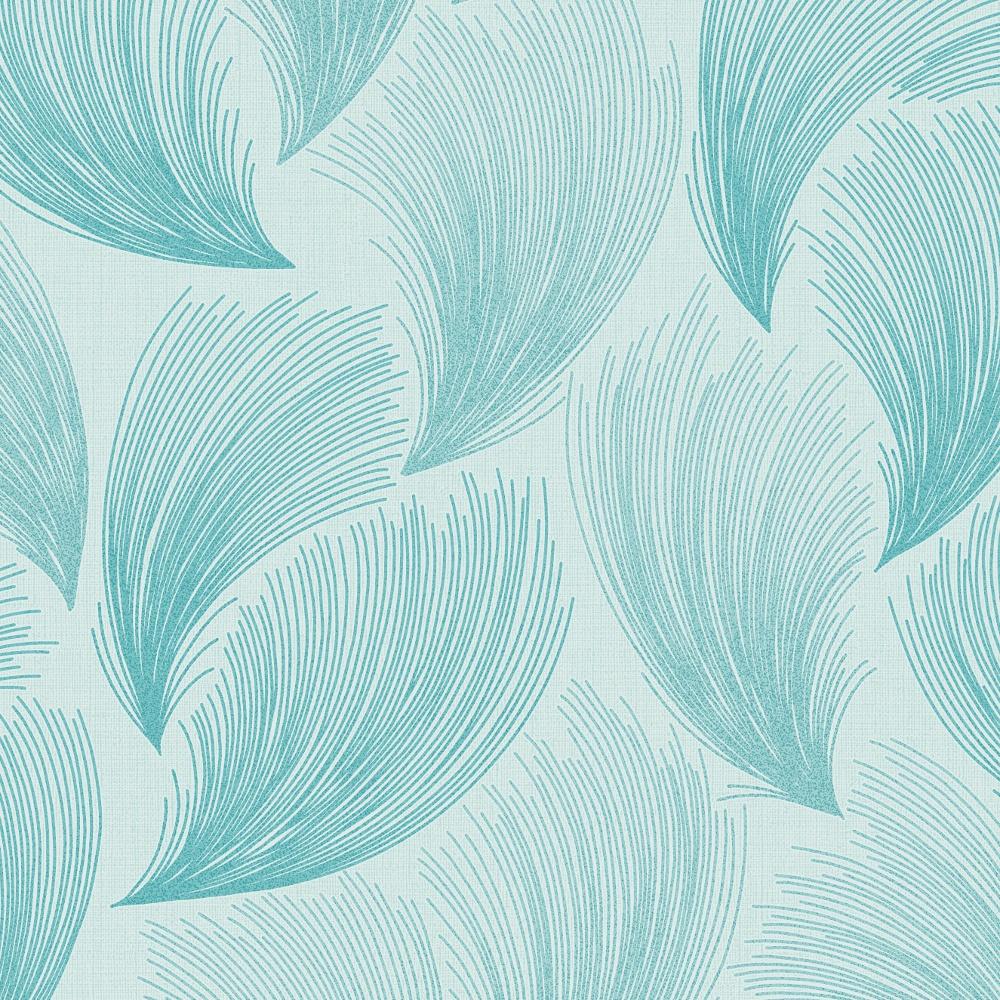 Rasch Gatsby Fan Pattern Feather Glitter Motif Vinyl