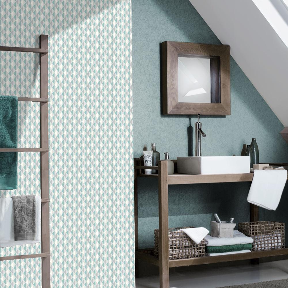 Rasch Triangle Stripe Pattern Kitchen Bathroom Vinyl