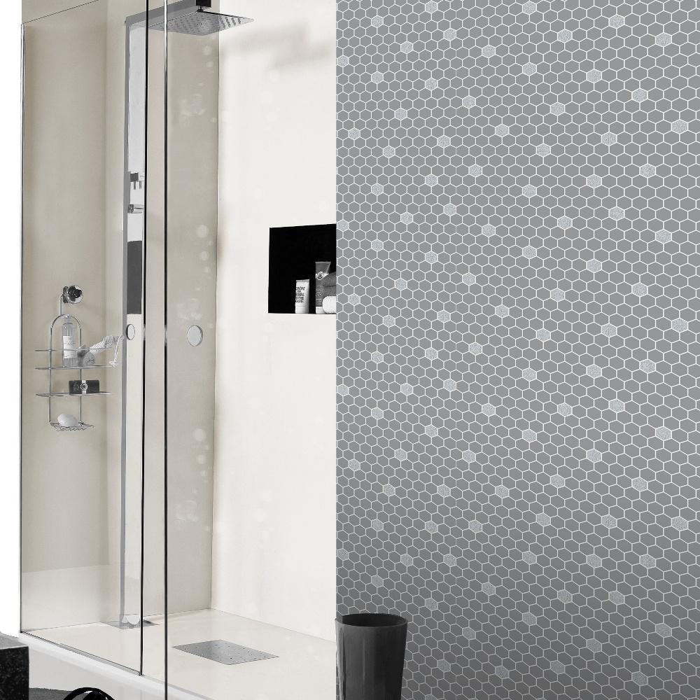 Rasch Hexagon Pattern Glitter Kitchen Bathroom Vinyl