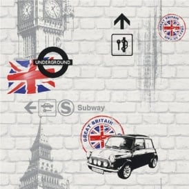 Rasch London Underground Wallpaper 234800