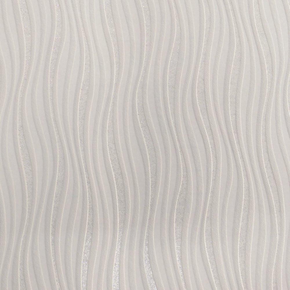 rasch luxe wave stripe pattern silver glitter wallpaper 317602
