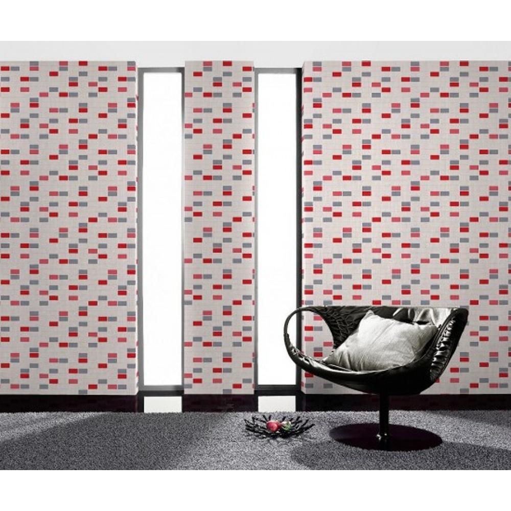 Kitchen Wallpaper Tile Effect: Rasch Mosaic Pattern Tile Effect Vinyl Kitchen Bathroom