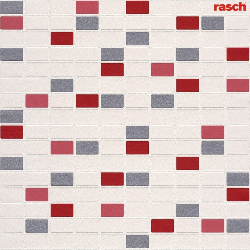 Wallpaper Rasch Rasch Mosaic Pattern Tile Effect Vinyl Kitchen