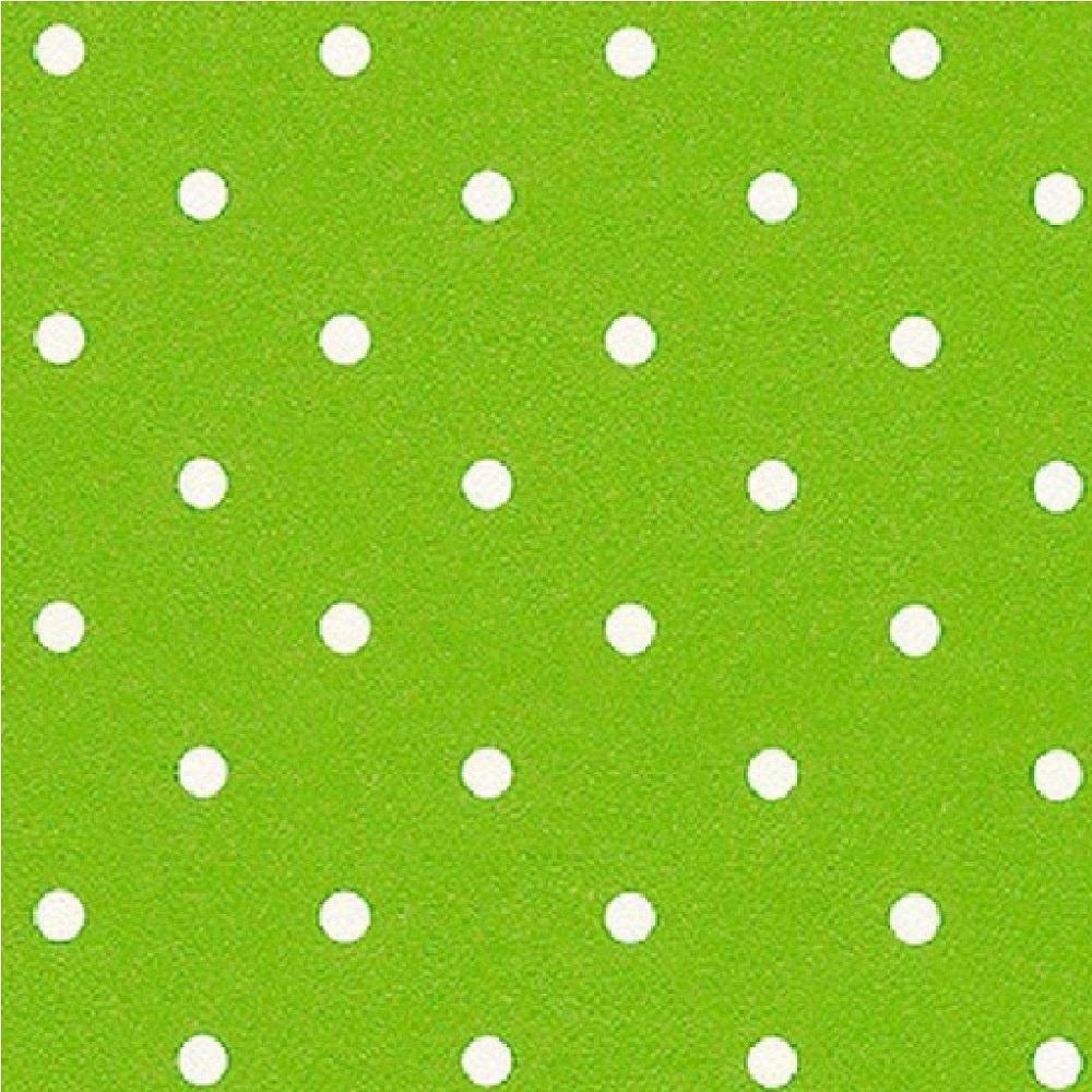 Rasch Polka Dots Spots Dotty Lime Green White Wallpaper 200027