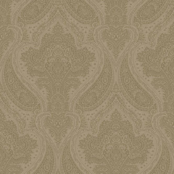 Rasch Roma Damask Pattern Traditional Classic Metallic Leaf Wallpaper 208641