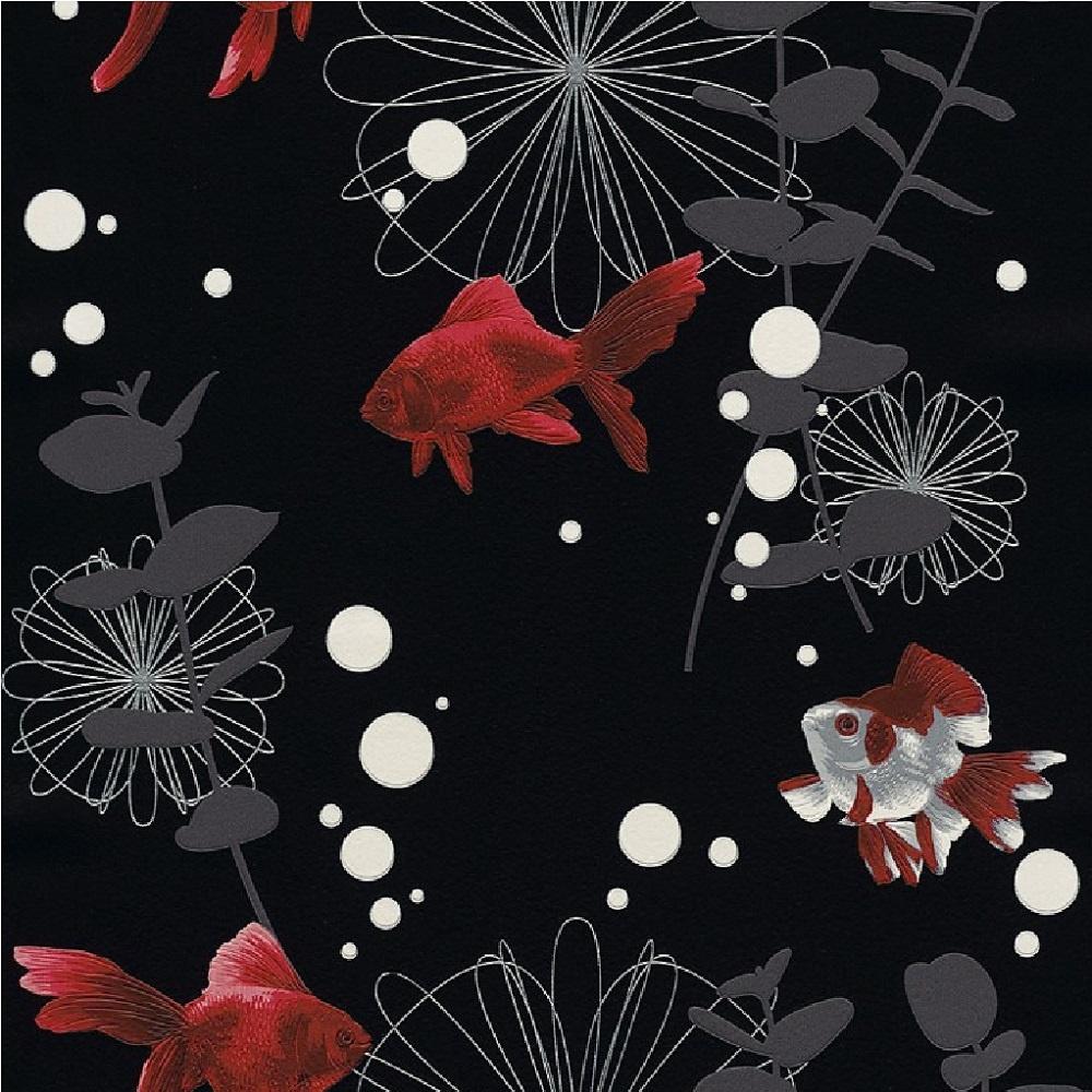 Vinyl Wall Tile Rasch Red Fish Textured Embossed Kitchen Bathroom Vinyl ...