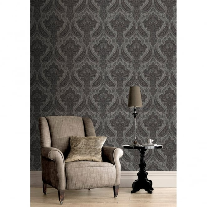 Rasch Roma Damask Pattern Traditional Classic Leaf Wallpaper 208627