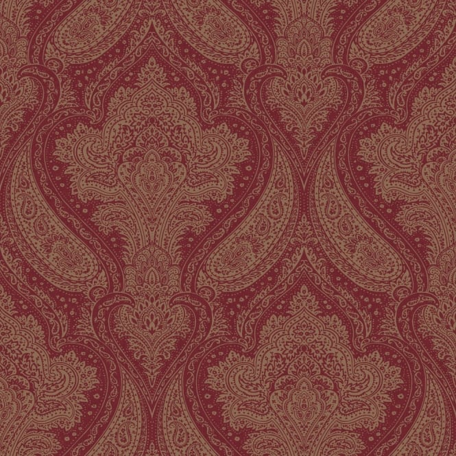 Rasch Roma Damask Pattern Traditional Classic Metallic Leaf Wallpaper 208634