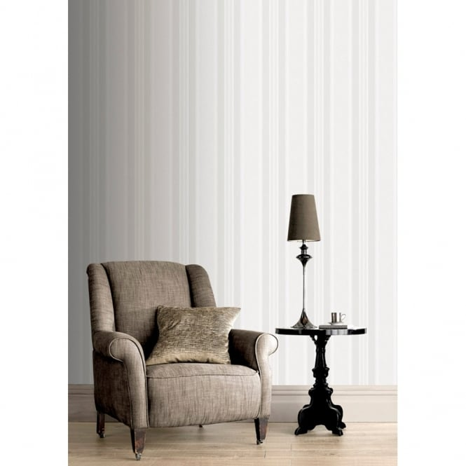 Rasch Roma Striped Pattern Metallic Stripe Motif Textured Wallpaper 208702
