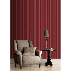 Rasch Roma Striped Pattern Metallic Stripe Motif Textured Wallpaper 208733