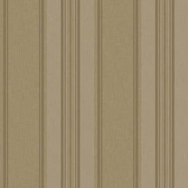 Rasch Roma Striped Pattern Metallic Stripe Motif Textured Wallpaper 208740