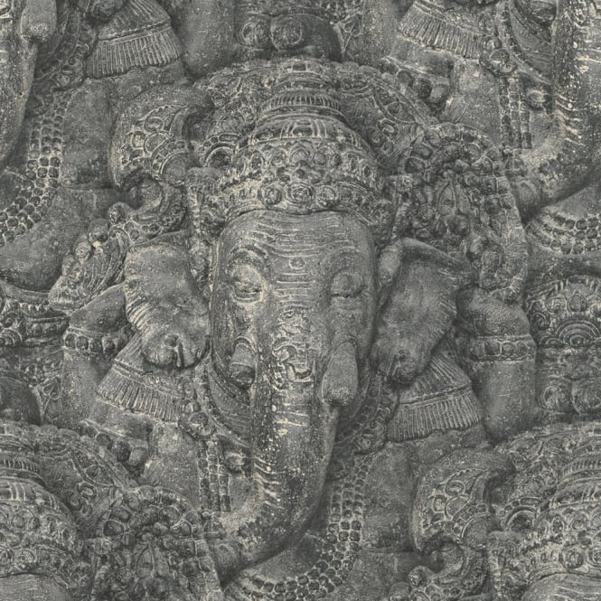 Rasch Stone Ganesha Photographic Pattern Wallpaper Realistic Faux Effect Elephant 525502