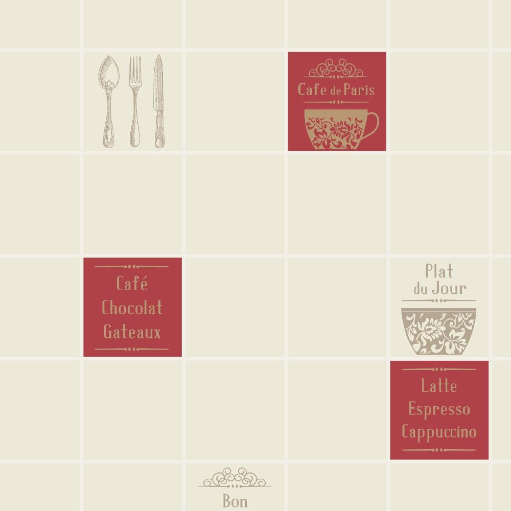 Restaurant Kitchen Tile Rasch Tile Pattern Cafc Restaurant Kitchen Vinyl Wallpaper 888126
