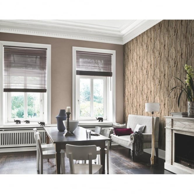 Rasch Tree Bark Pattern Realistic Faux Effect Photographic Mural Wallpaper 473216
