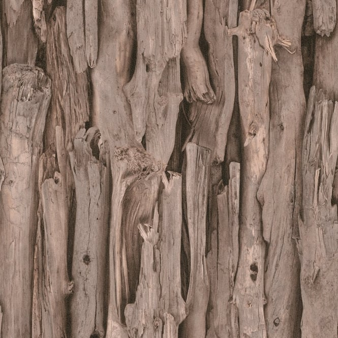 Rasch Tree Bark Pattern Realistic Faux Effect Photographic Mural Wallpaper 473223